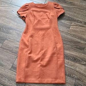 CK Suede Dress NWT, Sz 6